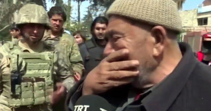 Afrinli Kürt amca sözleriyle yürekleri deldi geçti!