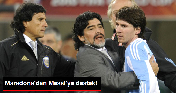 Maradona dan Messi ye destek!