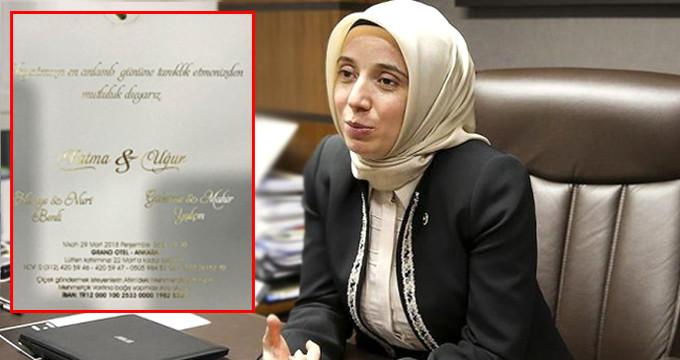 İşte AK Partili Fatma Benli'nin düğün davetiyesi