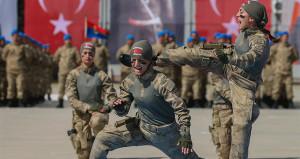 Teröristlerin kabusu, mavi bereli kadın askerler böyle yemin etti