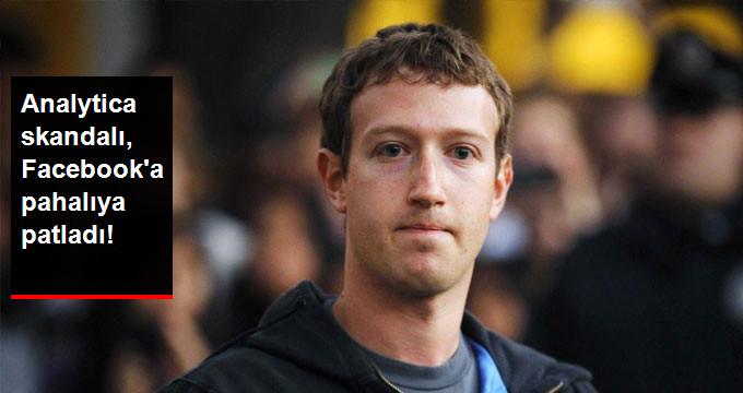 Analytica Skandalının Ardından Facebook Hisseleri Yüzde 13 Düştü