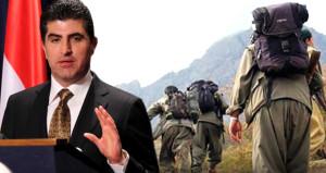 Barzani'den PKK'ya rest: Buradan çıkıp Türkiye'de eylem yapamazsınız!