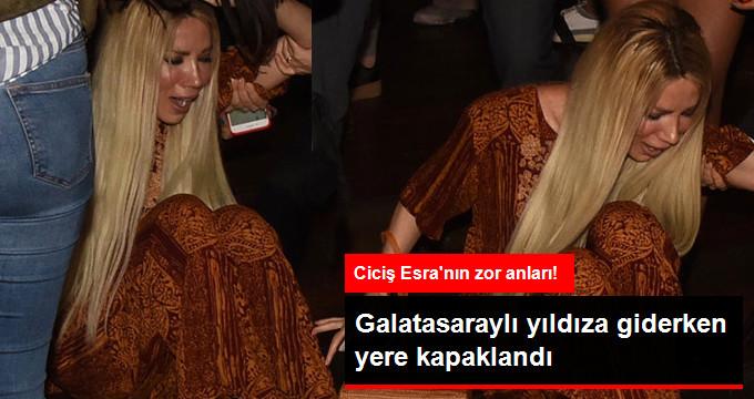 Ciciş Esra, Galatasaraylı Rodriguese Giderken Yere Kapaklandı