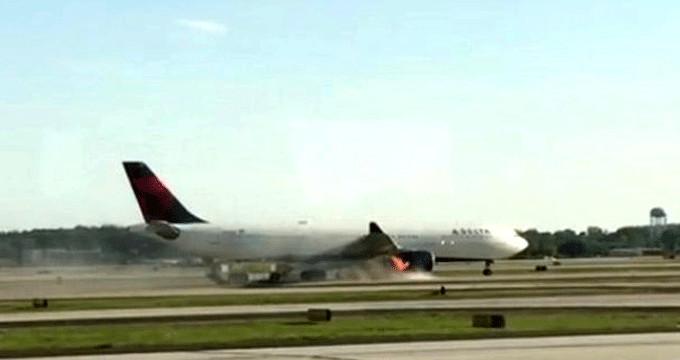 Felaketin eşiğinden dönüldü! ABD'de yine yolcu uçağı alev aldı