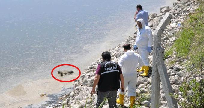 Barajda su çekilince, kayalıkların içinden ceset çıktı
