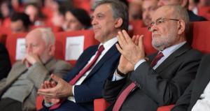 Kritik görüşme öncesi Gül ve Karamollaoğlu yan yana aynı karede!