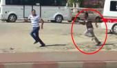 Dolmuşa bindirmeyen şoförü kovalayıp böyle bıçakladı