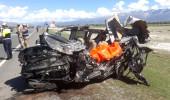 Feci kazada otomobille halk otobüsü birbirine girdi: 3 ölü, 15 yaralı