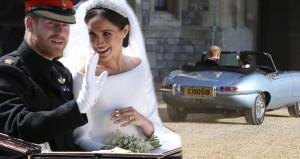 Düğünden sonra ilk kez görüntülendiler, plakadaki ayrıntı dikkat çekti