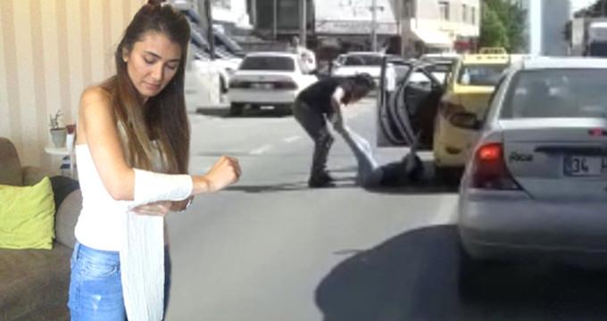 Şoförün, bacaklarından tutup yola attığı kadın dehşet anlarını anlattı