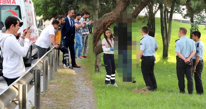 İstanbul'un göbeğinde ceset merakı! Herkes cep telefonuna sarıldı