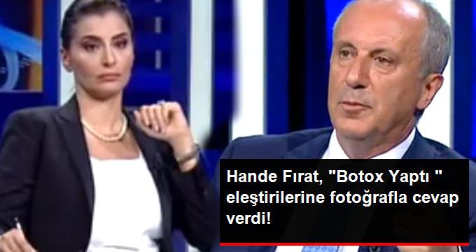 Hande Fırat, Botox Yaptı  eleştirilerine fotoğrafla cevap verdi!