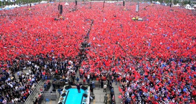 AK Parti'nin Yenikapı'daki mitingine kaç kişinin katıldığı belli oldu
