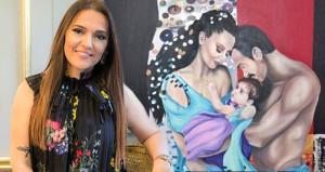 Demet Akalının çıplak aile tablosu sosyal medyada olay oldu