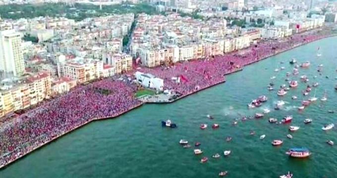 Muharrem İnce'den İzmir'de CHP tarihinin en kalabalık mitingi
