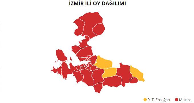 24 Haziran 2018 İzmir Milletvekili Genel Seçim sonuçları!