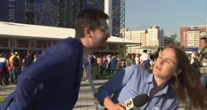Kadın muhabire canlı yayında taciz!