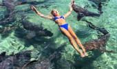 Güzel model, fotoğraf uğruna köpek balıklarına yem oldu!