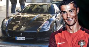 Ronaldo sadece arabalarıyla 4 büyüklerden birini alıyor