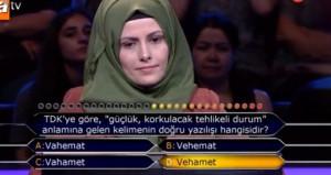 Seyirciye güvenen yarışmacı, hiç beklemediği bir sonuçla karşılaştı