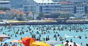 Bu kare bugün Türkiyenin tatil cennetinde çekildi