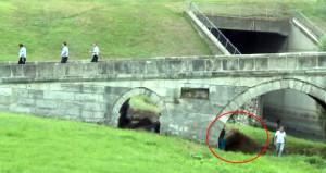 Köprü altındakileri gören telefona sarıldı, gerçek sonradan anlaşıldı