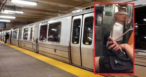 Metroda aniden soyunmaya başlayan kadın, sosyal medyayı alt üst etti!