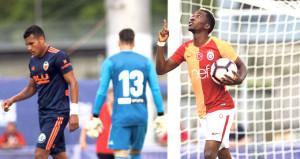 Galatasarayın yeni transferi Onyekuru, Valencia maçında siftah yaptı