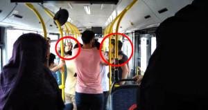 Otobüste yaşlılara yer veren genci tekme tokat dövdüler!