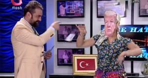 Flash TVden bir ilginç tepki! Trumpı oynatıp dolar attılar