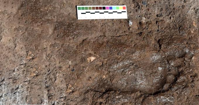 Önemli bir bulgu olarak kayda geçen ayak izi, koruma altına alındı