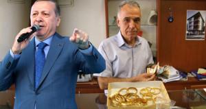 Erdoğan'ın tek sözüyle 20 kilo altın ile 500 bin dolar bozdurdular