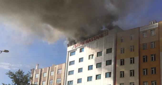 İstanbul'daki özel hastanede korkutan yangın!
