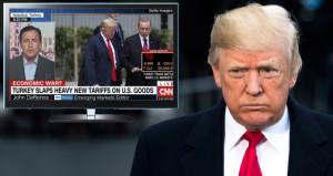 ABD televizyonunda Trumpı çıldırtacak alt yazı!