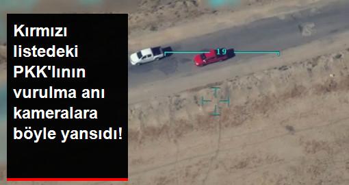 Kırmızı listedeki PKKlının vurulma anı kameralara böyle yansıdı!