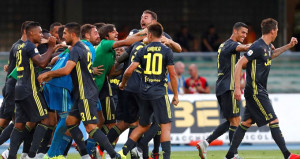 Ronaldolu Juventus, ligdeki ilk maçını son dakikada kazandı