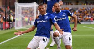Evertonın yıldızının vurduğu gol oluyor