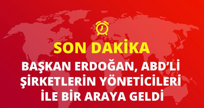 Başkan Erdoğan, ABDli şirket temsilcileriyle bir araya geldi