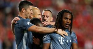 Alman devi Bayern Münih, Benficada rahat güldü