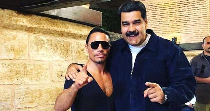 Maduro'yu ağırlayan Nusret'in başı belada! Halk dükkanını bastı