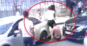 İstanbul'da kadın sürücü, yol vermeyen erkek şoföre zincirle saldırdı