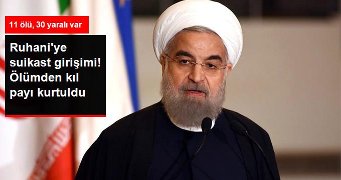 İran Cumhurbaşkanı Ruhani, Askeri Geçiş Töreni Sırasındaki Terör Saldırısından Kıl Payı Kurtuldu