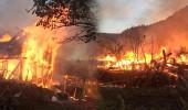 Bir köy cayır cayır yanmaktan kıl payı kurtarıldı!