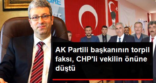 AK Partili başkanının torpil faksı, CHPli vekilin önüne düştü