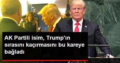 AK Partili isim, Trumpın sırasını kaçırmasını bu kareye bağladı