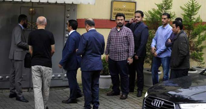 Türk ve Suudi yetkililer Suudi Arabistan Başkonsolosluğuna girdi