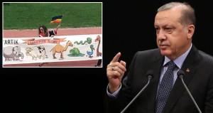 Erdoğandan 'Tayyipler alemi' pankartı açan ODTÜlülere manidar hediye
