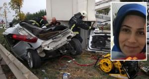 Kadın sürücünün can verdiği kazada ibredeki detay dikkat çekti