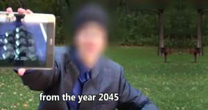 '2045ten geldim' deyip bir de video paylaştı