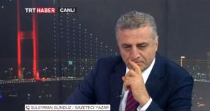 TRT modaretörü, ekranda beliren yazı sonrası konuşamadı